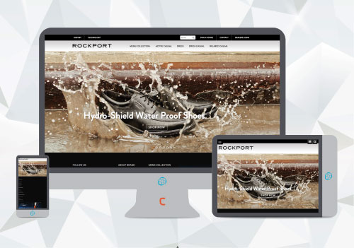 website designing and development for rockport